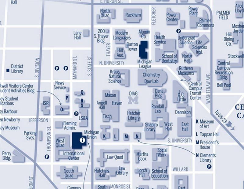 University Of Michigan Map Bnhspine Com