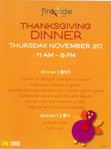 An invitation to thanksgiving dinner student life groups an invitation to thanksgiving dinner fireside thanksgiving dinner thursday nov 20 from 11am 8pm stopboris Choice Image