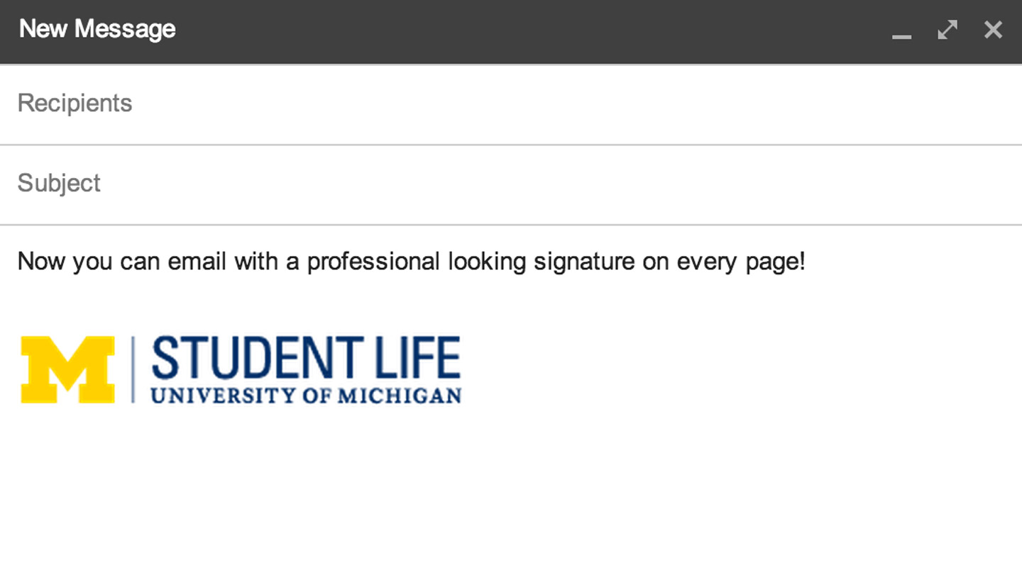 How to Add a Logo / Signature to your Gmail | Student Life Groups
