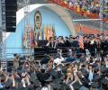 graduation at the Michigan Stadium